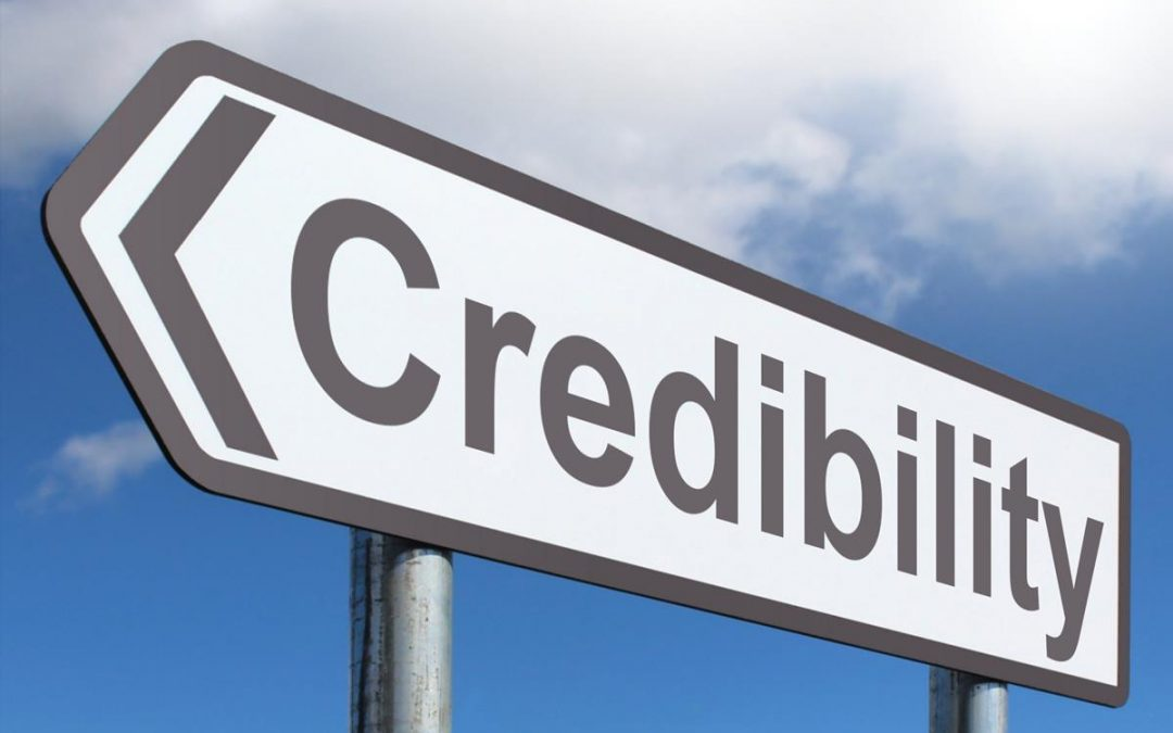 Credibility road sign