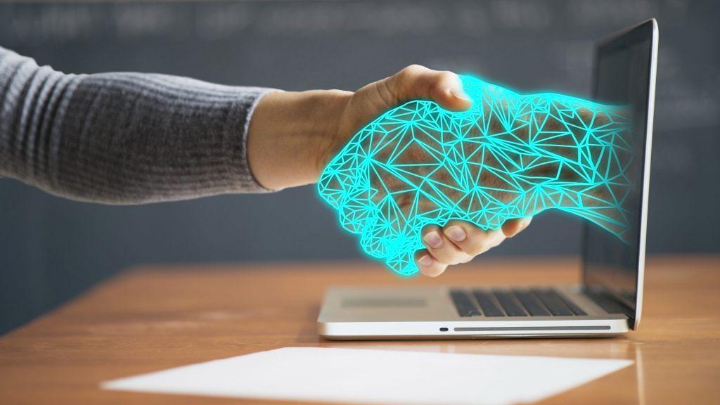 Virtual Handshake Through Computer Screen